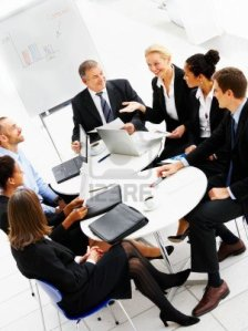 2225121-business-group-meeting-portrait--five-business-people-working-together-a-diverse-work-group