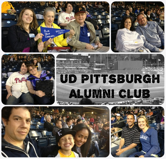 UD Pgh Alumni Club at a Pirates Game, May 3, 2013