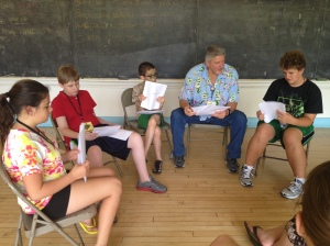 Group discussion during the first week of film camp