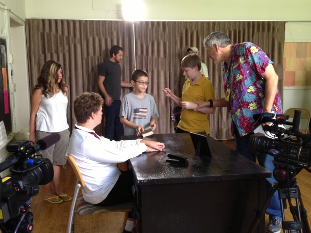 "On the set of ""The Curse of Mokato"" at the Joey Travolta Film Camp"