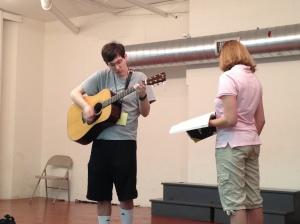 "Michael singing ""Imagine"" on the last day of film camp."