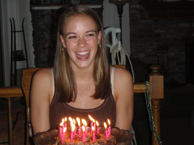 This is me on my 20th birthday. Not a care in the world right at that moment.